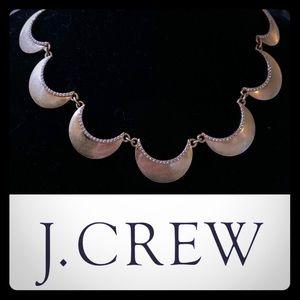 J. Crew Gold Tone Art Deco Statement Necklace